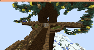 Minecraft Building, Tree by RainbowMellow