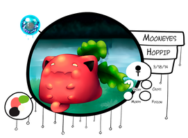[ PKMNation ] Mooneyes the Hoppip by GooMama