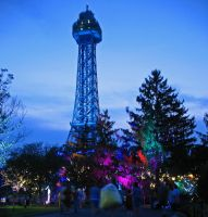 Eiffel Tower Kings Island nite by WDWParksGal-Stock