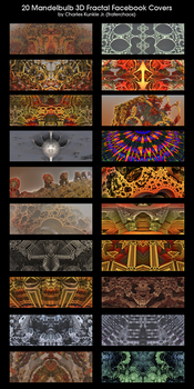 20 Mandelbulb 3D Facebook Covers by fraterchaos