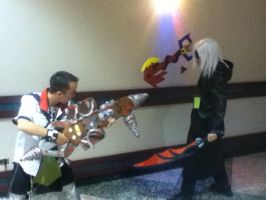 me as Ventus my friend as Organ 13 Riku by Roxas-Ven-Cosplayer