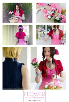 FFVII - Flower girl by AidaOtaku