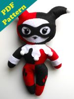 Harley Quinn Plush Pattern by Michelle Coffee by misscoffee