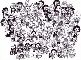 One Piece Chibi Chaos by Soozan
