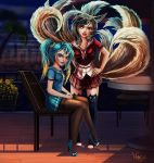 Ahri and Sona. by Deadguybeer