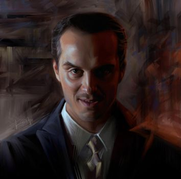 Moriarty. Andrew Scott by Olga-Tereshenko