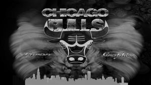 chicago bulls black and white by mademyown