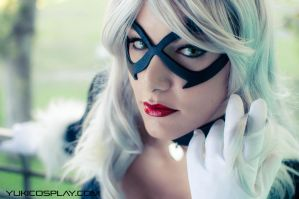 Black Cat Cosplay Portrait by Yukilefay
