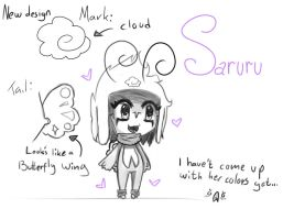 Saruru New Design + mark by Saruru-Chan