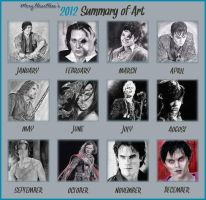 2012 Summary of Art by MeryHeartless