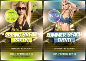 Spring Break Flyer Template by quickandeasy1
