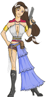 Tifa as Yuna: Colored by ChocoboGoddess