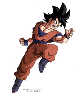 Son Goku is here by Tomycase