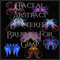 Fractal Abstract Butterfly Brushes for Gimp by Xavasia