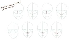 Drawing a nose (Step by step) by MsArtGarden