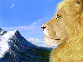 Aslan in Narnia by rdsullivan
