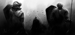 Knights by Surfsideaaron