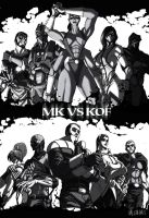 MK and KoF characters by ValentrisRRock