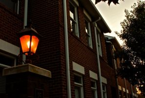 Perpetual Lamp Post at Dusk by Jordanart4peace