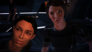 FemShep and Ashley Williams by programmer444