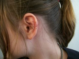 Bronze Earcuff by MiscellaneousMaille