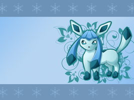 ...::Glaceon WALLPAPER::... by Ryuniek