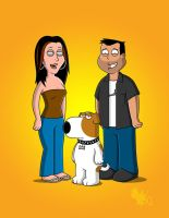 Family (Guy) Portrait by JohnVichlenski