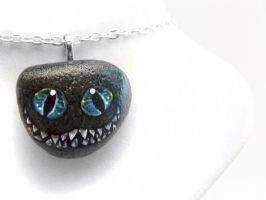 Cheshire Cat Pendant Necklace by sobeyondthis