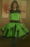 DUCT TAPE PROM DRESS by ceebers