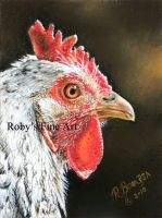 """Sunlit Hen"" - Realism by robybaer"