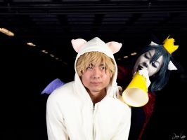 Moogle and Cait Sith Cosplay by SNTP
