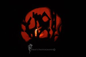Haunted House Pumpkin by Pi-ray