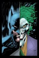 Batman and The Joker by xXNightblade08Xx