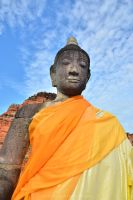 Buddha and the sky by drewhoshkiw