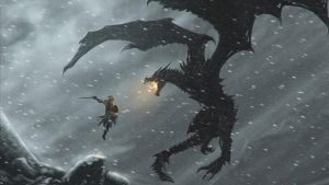 Alduin and the Dragonborn by Ignis-et-Ultio