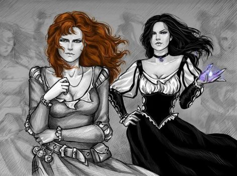 Yennefer and Triss by NastyaKulakovskaya
