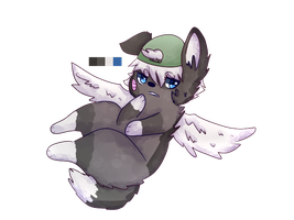 winged doge adoptable -SOLD- by pond-yo