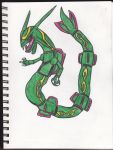 Rayquaza Doodle by teamspike1