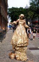 Golden Statue I by 3dmirror-stock