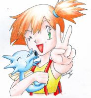 Misty and Horsea by LARvonCL