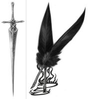 Sword of Nod and Quills by MelUran