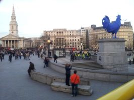Trafalgar Square (with funny blue cock XD) by Saliona93