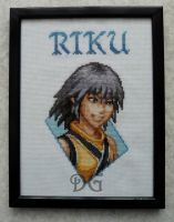 Riku (Kingdom Hearts) embroidery by didi-gemini