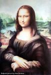 Mona Lisa with ballpoint pen by ArtisAllan