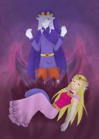 Vaati and Zelda by BlackThunder-chan