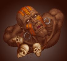 Dhalsim portrait by andresmoreno