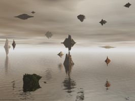 Floating by xerro