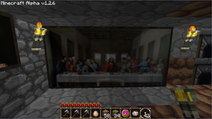 The Last Minecraft Supper by C4pt41n-Aw3s0m3