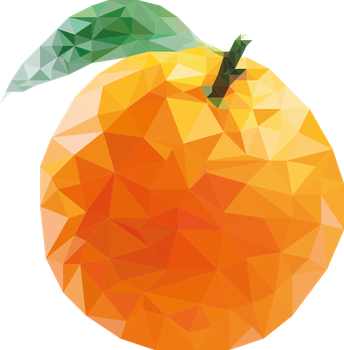 orange low poly by oddkh1