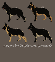 Commission - GSD Designs for XxBrittany-BoomerxX by RoyalFront